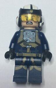 Lego Star Wars Minifigures - Resistance Pilot (Dark Blue) A-Wing