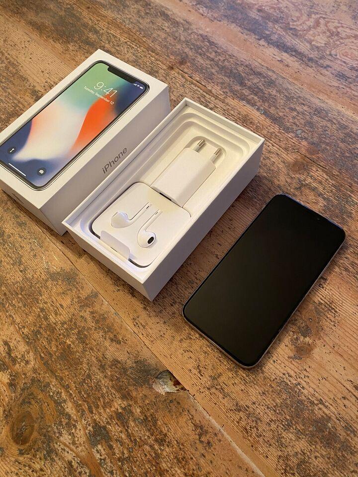 iPhone X, 256 GB, grå