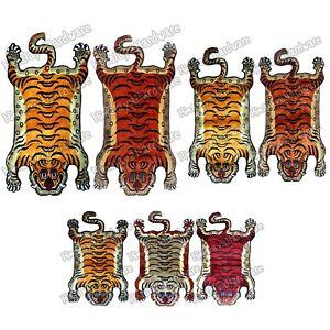100-Silk-Tibetan-Tiger-Rug-Carpet-pelt-skin-orange-Nepal-Nepali-Tibet-animal