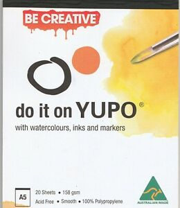 A5-Yupo-Ultra-Synthetic-Paper-Pad-158gsm-20-Sheets-Alcohol-Ink-Watercolor-Paints