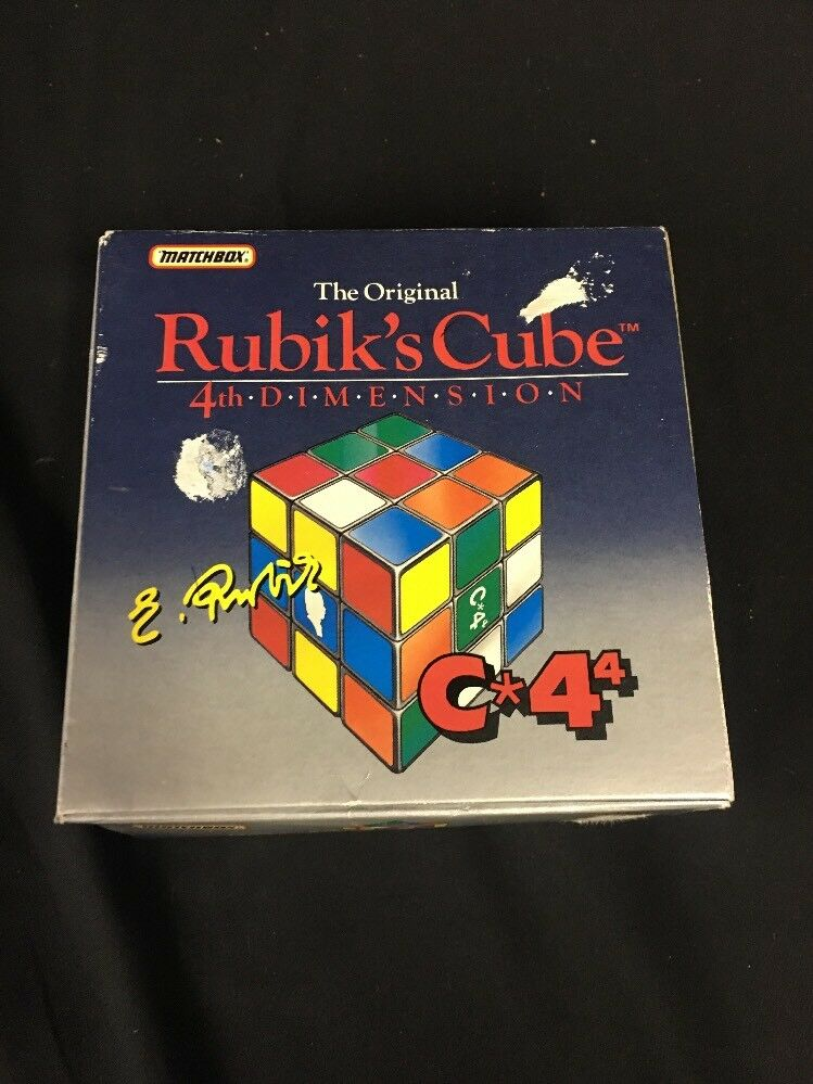 The Original Erno Rubik's Cube, 4th DiSiesion 1988 Edition  In Box Matchbox
