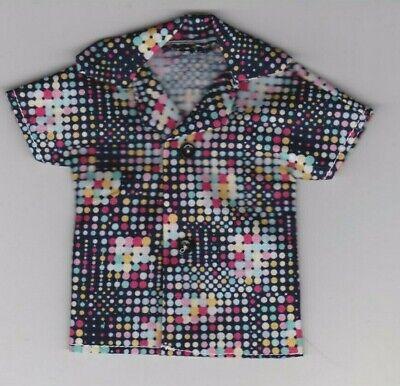 Homemade Doll Clothes-Pink Floral Print Shirt fits Ken Doll B1
