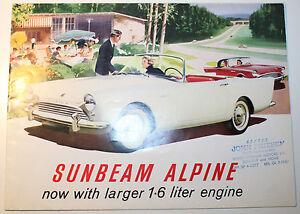 Sunbeam Alpine 1.6l Foldout 6 Page Automobile Advertisement Dealer Brochure