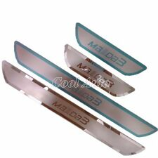 For 2014 2017 Mazda 3 Ultra-thin Stainless Scuff Plate Door Sill Protector Pedal