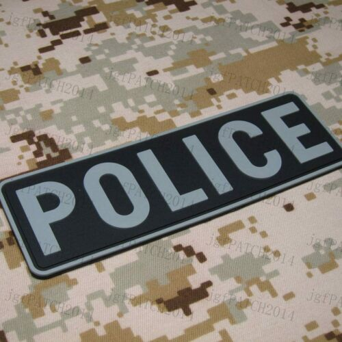 POLICE tactical military 3D PVC Patch