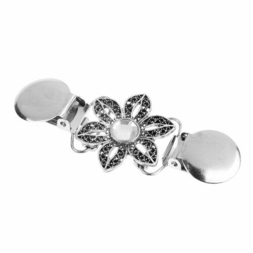 Perle Blume Klammer Klemme Tuchclip Schnalle für Dame Pullover Strickjac ZPN