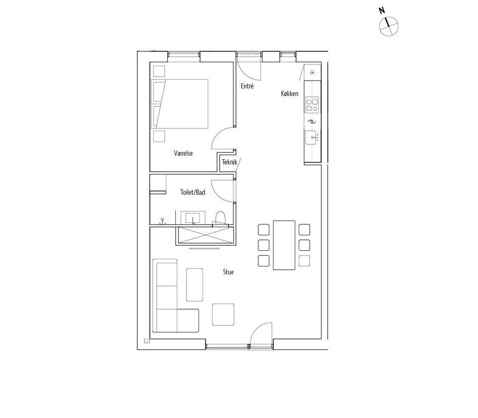 4800 vær. 2 lejlighed, m2 98, Jernbanegade