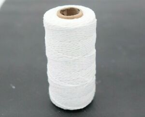 0-09-m-Baker-039-s-Twine-WEIss-90m-Rolle-Bakers-Kordel-Bastelschnur-white