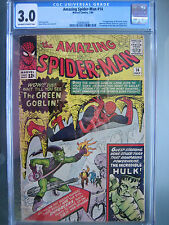 Amazing Spider-Man #14 CGC 3.0 OW/W **1st Green Goblin** Marvel Comics 1964
