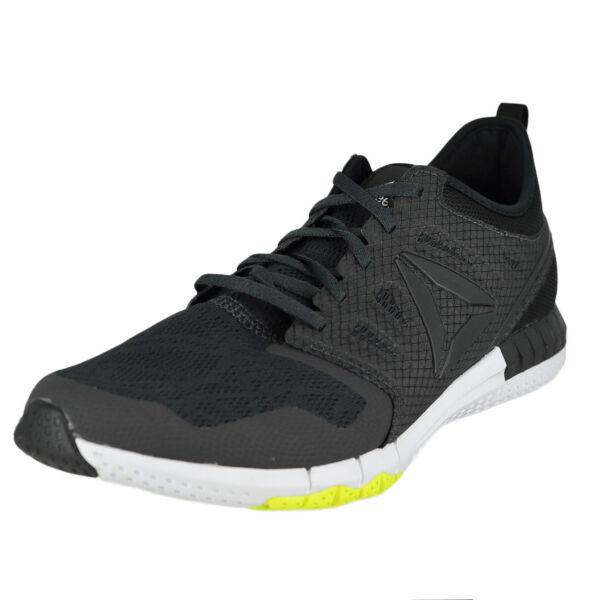 cd1b4ee5bcbd Reebok Zprint 3d AR0396 Running Shoes Coal Black Alloy Yellow Men s Size  11.5