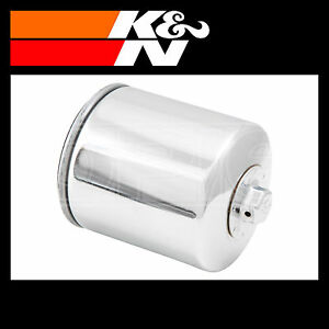 K-amp-N-Oil-Filter-Powersports-Chrome-Finish-Motorcycle-KN-174C