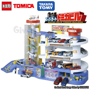 genuine takara tomy tomica super auto car park parking building figure box set ebay. Black Bedroom Furniture Sets. Home Design Ideas