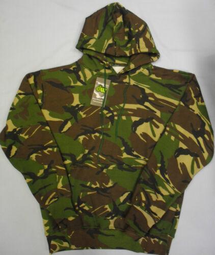 Camo Hommes Camouflage à Capuche Vert Armée Pull Capuche Veste S M L XL XXL