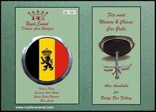 Royale Classic Car Grill Badge + Fittings - BELGIUM NATIONAL EMBLEM B2.1381