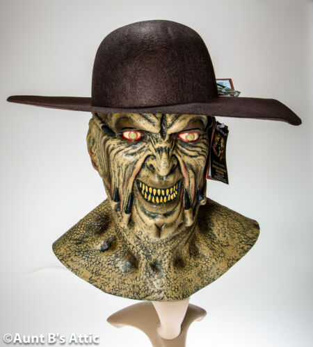"""/""""Jeepers Creepers/"""" Mask Licensed Full Head Latex Mask W// Or W// Out Felt Hat"""