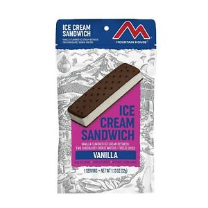 Mountain House Vanilla Ice Cream Sandwich   Freeze Dried Backpacking & Campin...