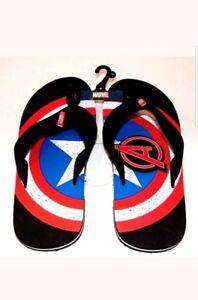 78c4043bd03 Avengers Captain America Shield Marvel Flip Flops Size Male 9-10 New ...