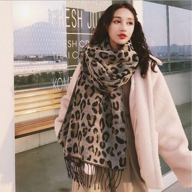 f21ae6ecfddba Women's Winter Warm Leopard Print Scarves Ladies Shawl Stole Blanket ...