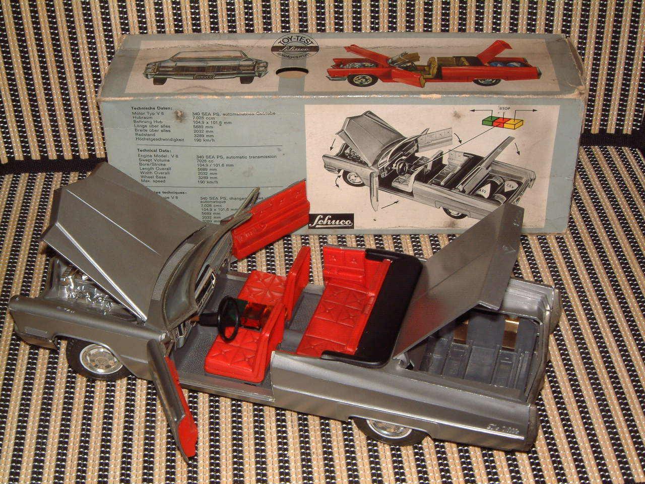 SCHUCO RARE CADILLAC DE VILLE CONgreenIBLE 5505 B O WORKING PERFECTLY & W BOX