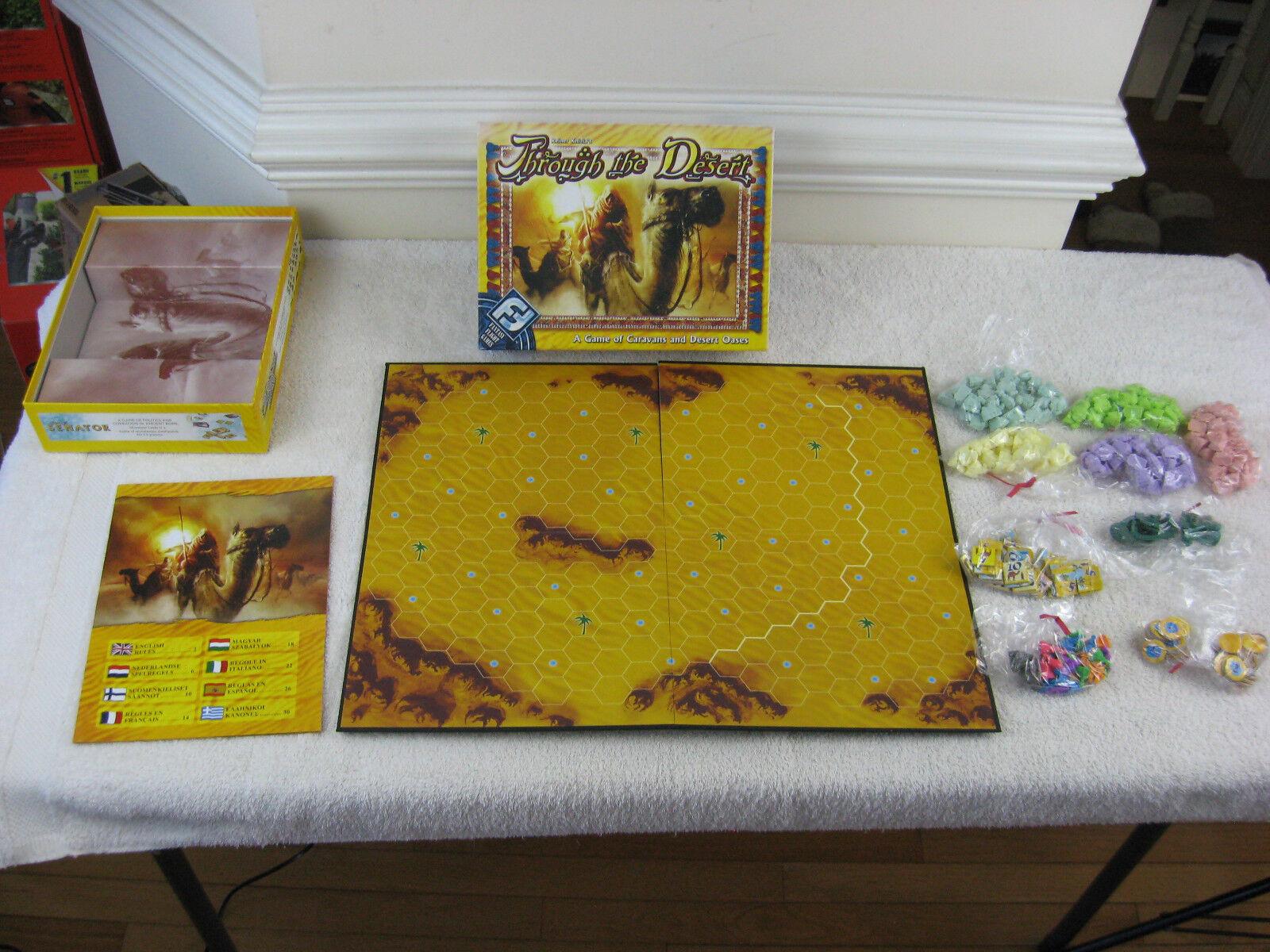 À travers le désert Board Game par Reiner Knizia Fantasy  Flumière-COMPLET  qualité de première classe