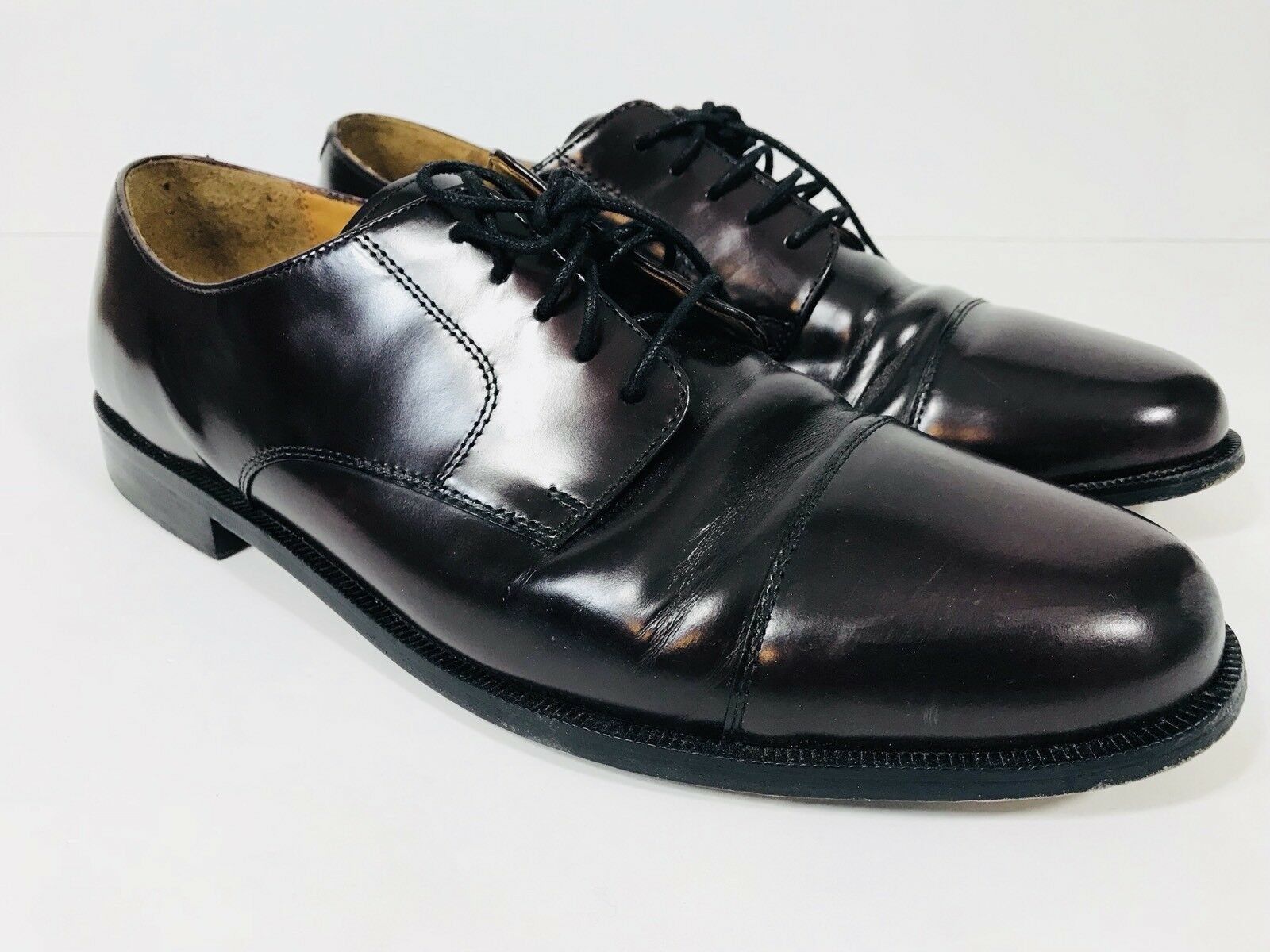 COLE HAAN Mens shoes Sz 13 D Caldwell Burgundy Leather Laced Oxfords Captoe