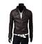 New-Men-039-s-Slim-Fit-Zipper-Designed-PU-Leather-Jacket-Coat-Free-Post-0309 thumbnail 9