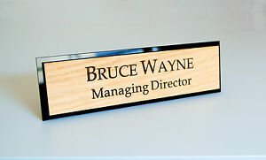 Awesome Image Is Loading Personalised Desk Name Plate Custom Laser Engraved Sign