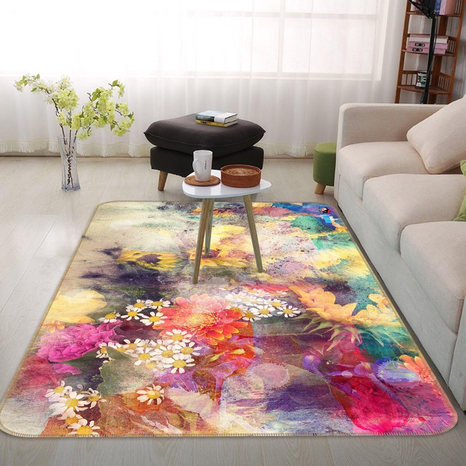 3D SonnenBlaume SonnenBlaume SonnenBlaume Garten 55 Rutschfest Teppich Raum Matte Qualität Elegant Teppich 987ee3