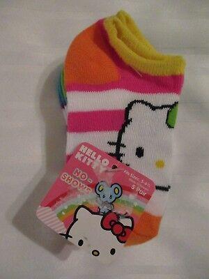NEW Hello Kitty Girls No Show Socks 5 Pair