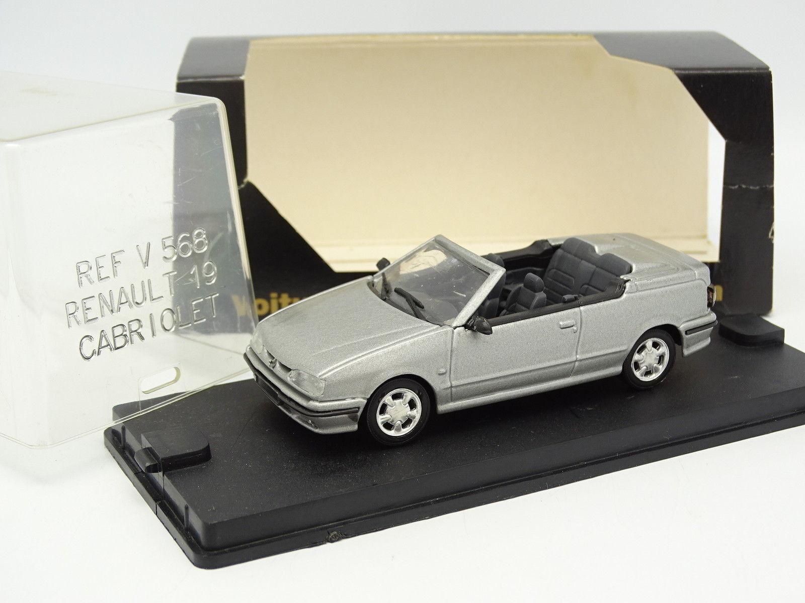 Verem Cec Resina 1 43 - Renault 19 16S Cabriolet gris