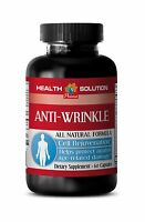 Vitamin E Capsules - Anti Wrinkle Natural Formula - 1 Bottle, 60 Capsules