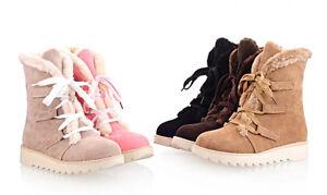 stivali stivaletti invernali comodi scarpe donna tacco 4 cm grigi rosa nero 8717