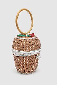 Basket Détail Floral Zara Bag Tags New Avec UqddwOz