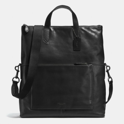 COACH MANHATTAN FOLDOVER TOTE IN SPORT CALF LEATHER MESSENGER BAG STYLE # 72141