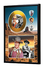 John Wayne Gold Look CD, Autograph & Plectrum Display