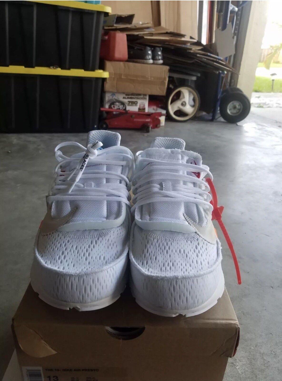 Men's Nike Off White Presto Size 13