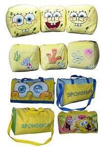Spongebob-Kissen-amp-Sporttaschen-Sponge-Bob-Schwammkopf-Sitzkissen-Taschen-Sport