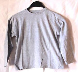 Kik Star Pullover langärmliges Jungen Kinder Sweatshirt Farbe Grau 122 / 128