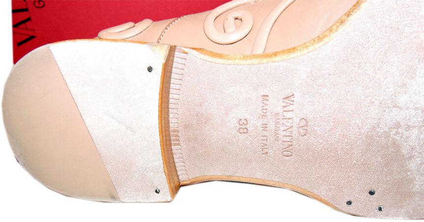 Valentino Garavani Garavani Garavani Beige Laçage Cuir Baroque Oxford Plat Chaussures 38 Mocassin 20716d