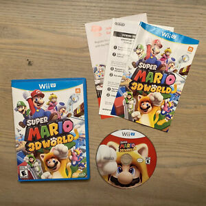 Super Mario 3D World (Wii U, 2013) - Complete w/ Manual - TESTED and WORKING!