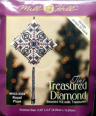 Mill Hill Cross Stitch Bead Kit Christmas Diamond 'Royal Plum' 22-3304
