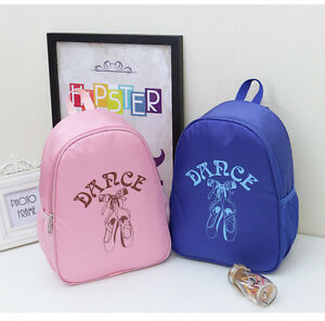 UK-Stock-New-Cute-Girls-Kids-BALLET-BAG-Backpack-Dance-Bag-Book-bag