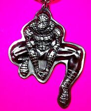 Rare Marvel Heros PEWTER SPIDER-MAN Keychain Action Figure Key Ring 2007 #67400