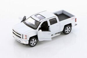 Kinsmart-2014-Chevrolet-Silverado-LTZ-4x4-Pick-Up-Truck-1-46-Diecast-Car-WHITE