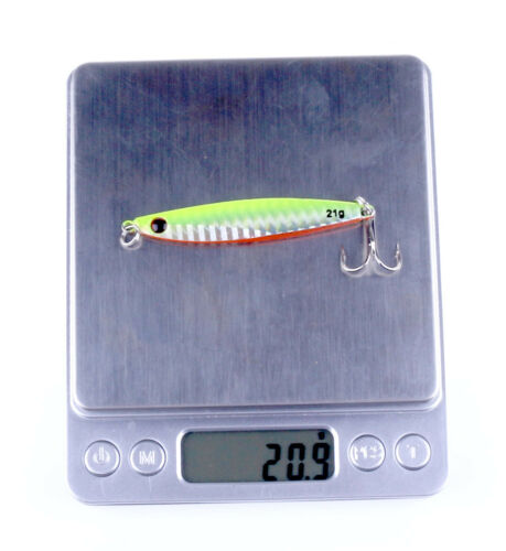 7Pack Fishing Lures Metal Jigs Jigging Lure with Feather Hooks Baits Saltwater