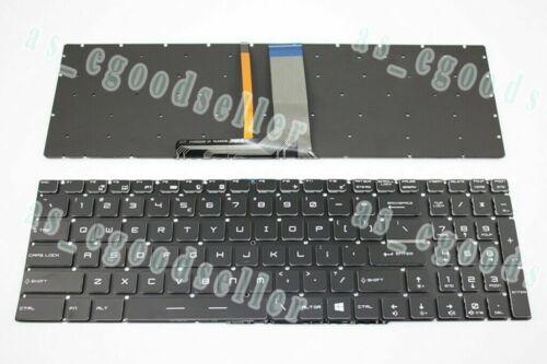 New for MSI GV62 GV72 GV62VR GV72VR GL63 GL73 Keyboard US BACKLIT NO Frame Black