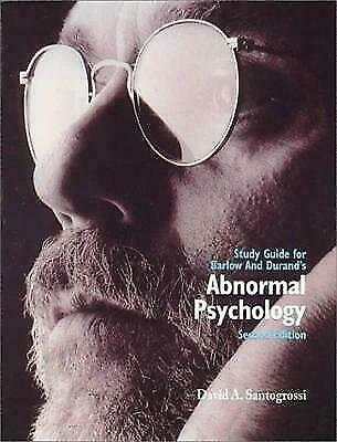 Study Guide for Barlow/Durand's Abnormal Psychology: An Integrative Approach Sa