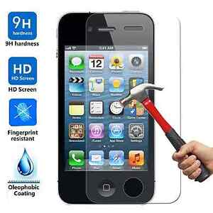 100x Wholesale Lot Tempered Glass Screen Protector for Apple iPhone 4 4S