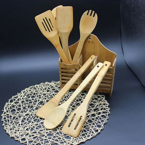 Bamboo Kitchen Cooking Utensils 5pcs set
