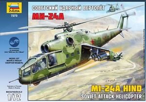 ZVEZDA-7273-SOVIET-ATTACK-HELICOPTER-MI-24A-HIND-SCALE-MODEL-KIT-1-72-NEW